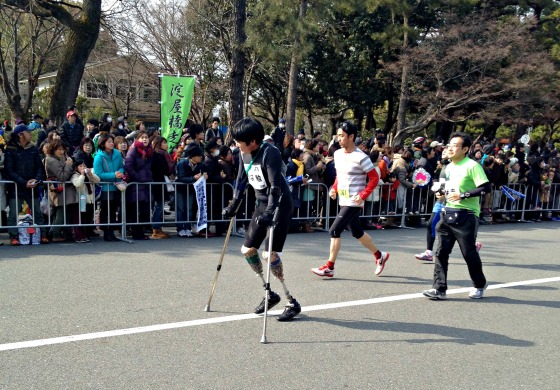 Kyoto marathon without legs
